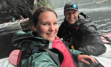 Doubtful Sound Kayak office and stores manager, Nadine