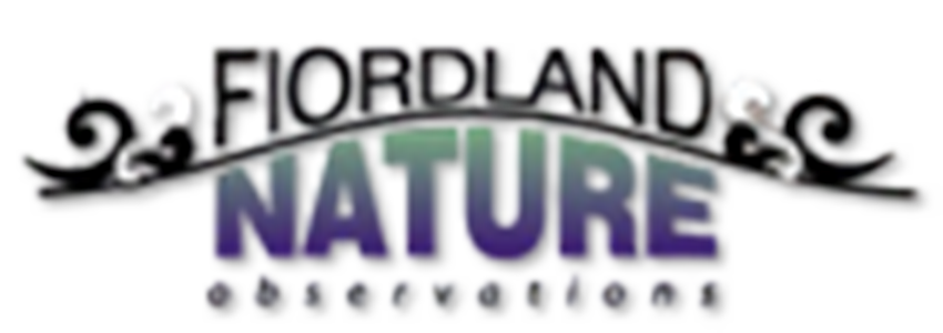 Fiordland Nature Observations black and purple logo