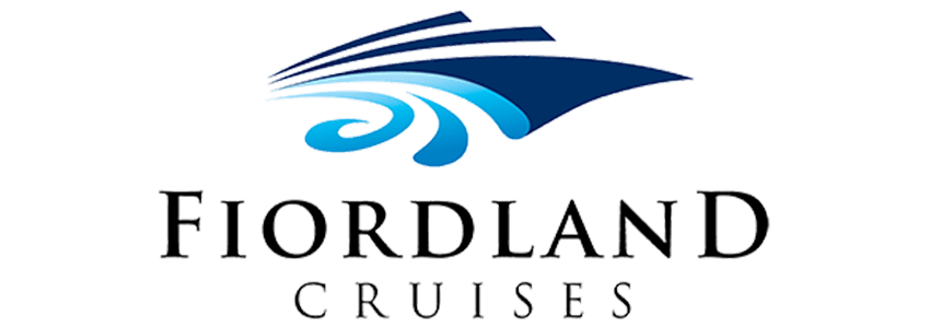 Fiordland Cruises blue and black logo