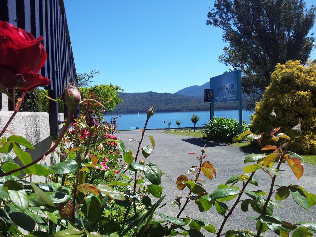 View towards lake from the Edgewater Motels Te Anau