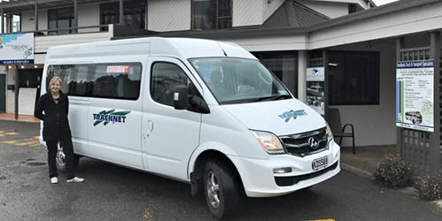 Tracknet van parked at Doubtful Sound Kayak office